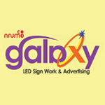Galaxy Signboard, Aluminium & Glass