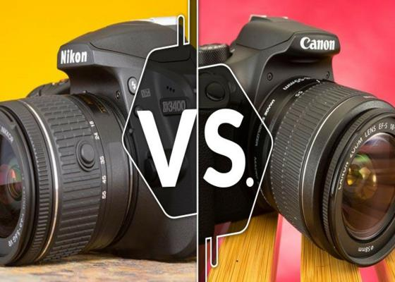 584205 comparison cameras nikon d3400 vs canon eos rebel t6